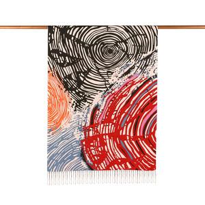 ipekevi - Renkli Zebra Desenli İpek Şal Model 01 (1)