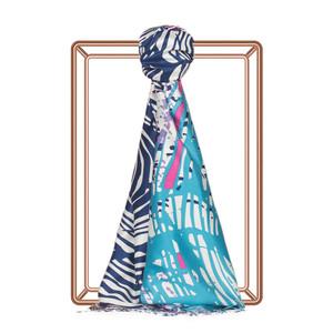 ipekevi - Renkli Zebra Desenli İpek Şal Model 03 (1)