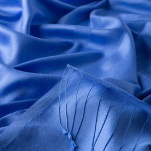 - Saks Mavi Mono Panjur İpek Şal (1)