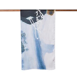 - Sis Denizinin Üzerindeki Gezgin Saten İpek Fular Şal (1)