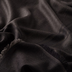 - Siyah Çiçek Motifli Yün İpek Eşarp (1)