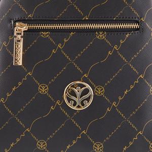 Siyah Altın Monogram Sırt Çantası - Thumbnail