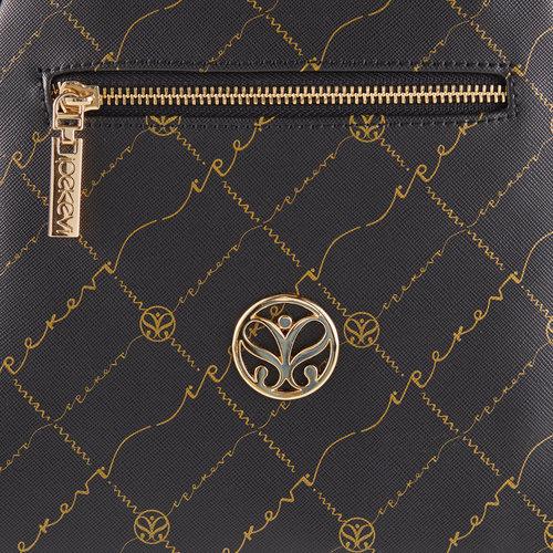 Siyah Altın Monogram Sırt Çantası