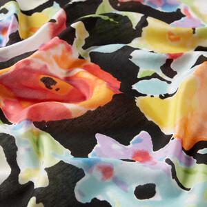 - Siyah Bahar Buğusu Desenli Modal İpek Şal (1)