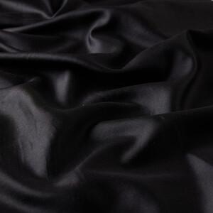 ipekevi - Siyah Çift Taraflı İpek Fular (1)