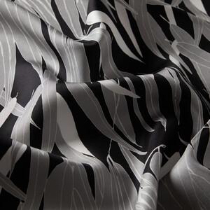 ipekevi - Siyah Dark Garden Desenli Tivil İpek Eşarp (1)