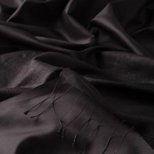 ipekevi - Siyah Düşes Simli İpek Şal (1)