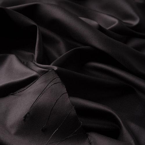 Siyah Düz İpek Şal