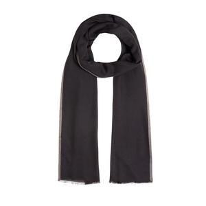- Siyah Düz Şeritli Modal İpek Şal (1)