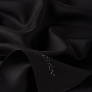 ipekevi - Siyah Düz Tivil İpek Eşarp (1)