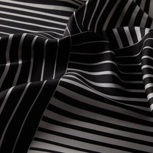 ipekevi - Siyah Gümüş Tarama Desenli Tivil İpek Eşarp (1)