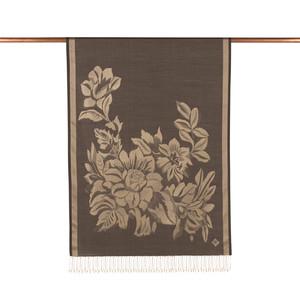 ipekevi - Siyah Has Bahçe Desenli İpek Şal (1)