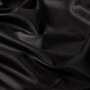 Siyah İnce Şantuk İpek Fular Şal - Thumbnail
