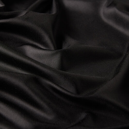 Siyah İnce Şantuk İpek Fular Şal