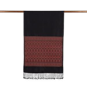 ipekevi - Siyah İpek Şal (1)