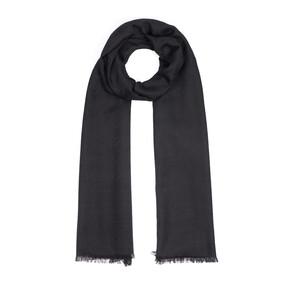 - Siyah Kaz Ayağı Desenli Yün İpek Fular (1)
