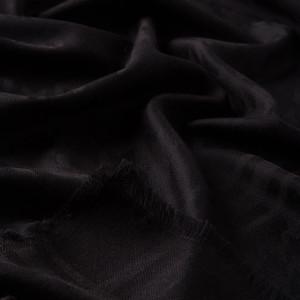 - Siyah Kaz Ayağı Yün İpek Eşarp (1)