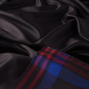 ipekevi - Siyah Kırmızı Mavi Ekose Çerçeve İpek Eşarp (1)
