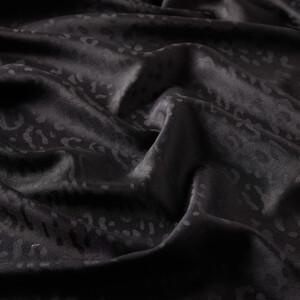 ipekevi - Siyah Leopar Jakar Desenli İpek Şal (1)