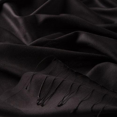 Siyah Mono Panjur İpek Şal