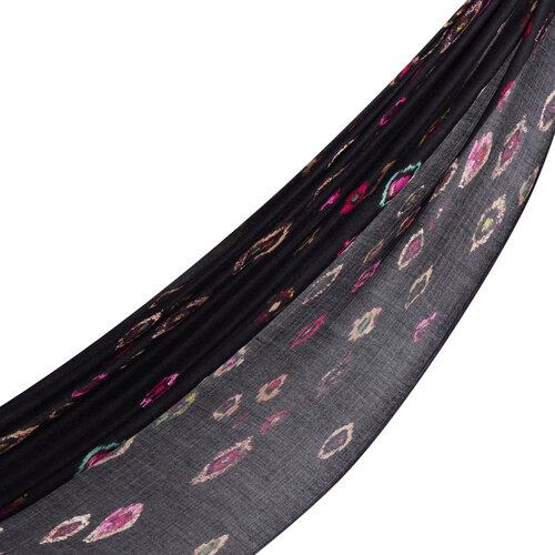 Siyah Murano Desenli Şal