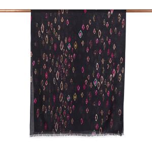 - Siyah Murano Desenli Şal (1)