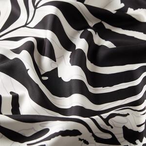 - Siyah Palmiye Desenli Tivil İpek Eşarp (1)