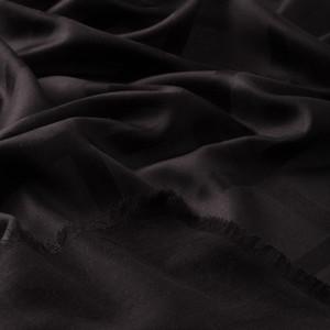 - Siyah Saten İpek Eşarp (1)