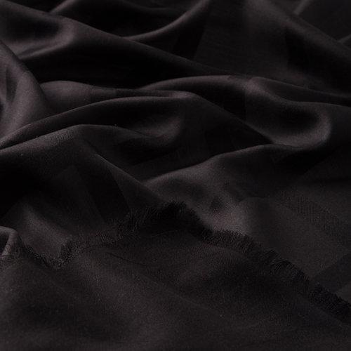 Siyah Saten İpek Eşarp
