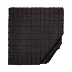 Siyah Saten İpek Eşarp - Thumbnail