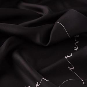 ipekevi - Siyah Signature Tivil İpek Eşarp (1)