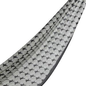 Siyah Stilize Kaz Ayağı Desenli Şal - Thumbnail