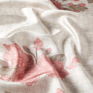 ipekevi - Taş Sakura Monogram Desenli Tivil İpek Eşarp (1)