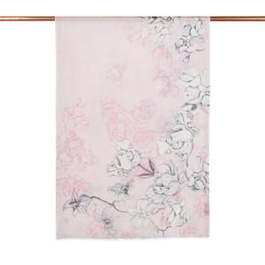 - Toz Pembe Kış Gülleri Desenli Şal (1)
