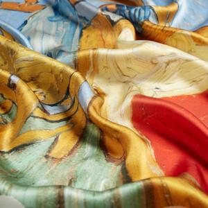 Yatak Odası Saten İpek Eşarp - Thumbnail
