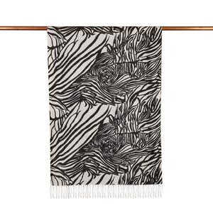 ipekevi - Zebra Desenli İnce İpek Şal (1)