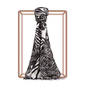 Zebra Desenli İpek Şal - Thumbnail