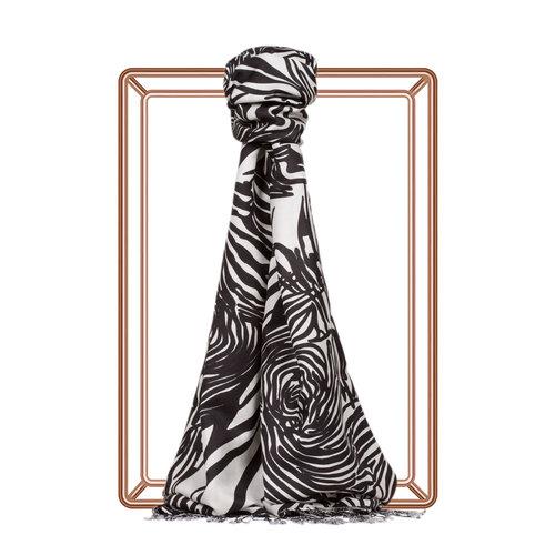Zebra Desenli İpek Şal