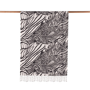 ipekevi - Zebra Desenli İpek Şal (1)