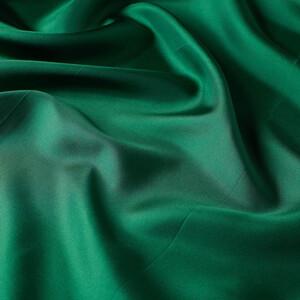 Zümrüt Yeşili Çerçeve Tivil İpek Eşarp - Thumbnail