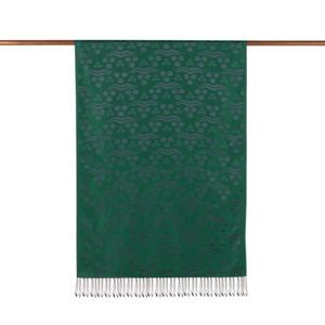 ipekevi - Zümrüt Yeşili Çintemani Desenli İpek Şal (1)