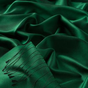 ipekevi - Zümrüt Yeşili Düz İpek Şal (1)