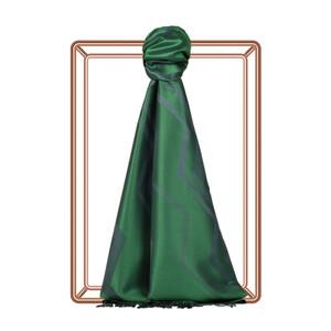 Zümrüt Yeşili Etnik Zikzak Desenli İpek Şal - Thumbnail