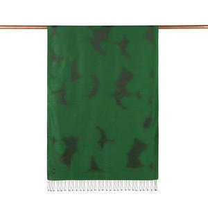 ipekevi - Zümrüt Yeşili Püskürtme Desenli İpek Şal (1)